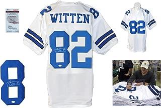 Jason Witten Signed Custom Jersey - JSA Witnessed - Autographed w/ Photo - White