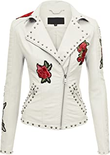 af60b5832 Amazon.com: Whites - Leather & Faux Leather / Coats, Jackets & Vests ...