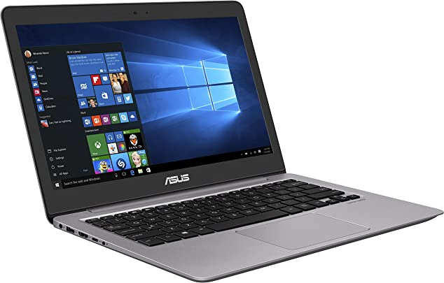 Asus Zenbook UX310UA-FC088T 33 7 cm  13 3 Zoll FHD matt  Laptop  Intel Core i7-6500U  8GB RAM  512GB SSD  Intel HD Graphics  Win 10 Home  grau