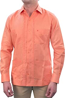 Sponsored Ad - Manchester Men's Guayabera Shirt Long Sleeve Regular Fit