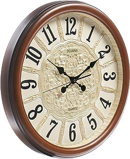 Dojana Wall Clock, DWG322-light BROWN-beige