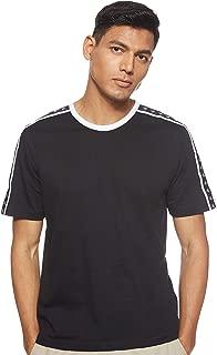 Calvin Klein Jeans Men's MONOGRAM TAPE REG SS TEE T-Shirts, Black (Black Beauty/Black/white Tape BAE), Medium