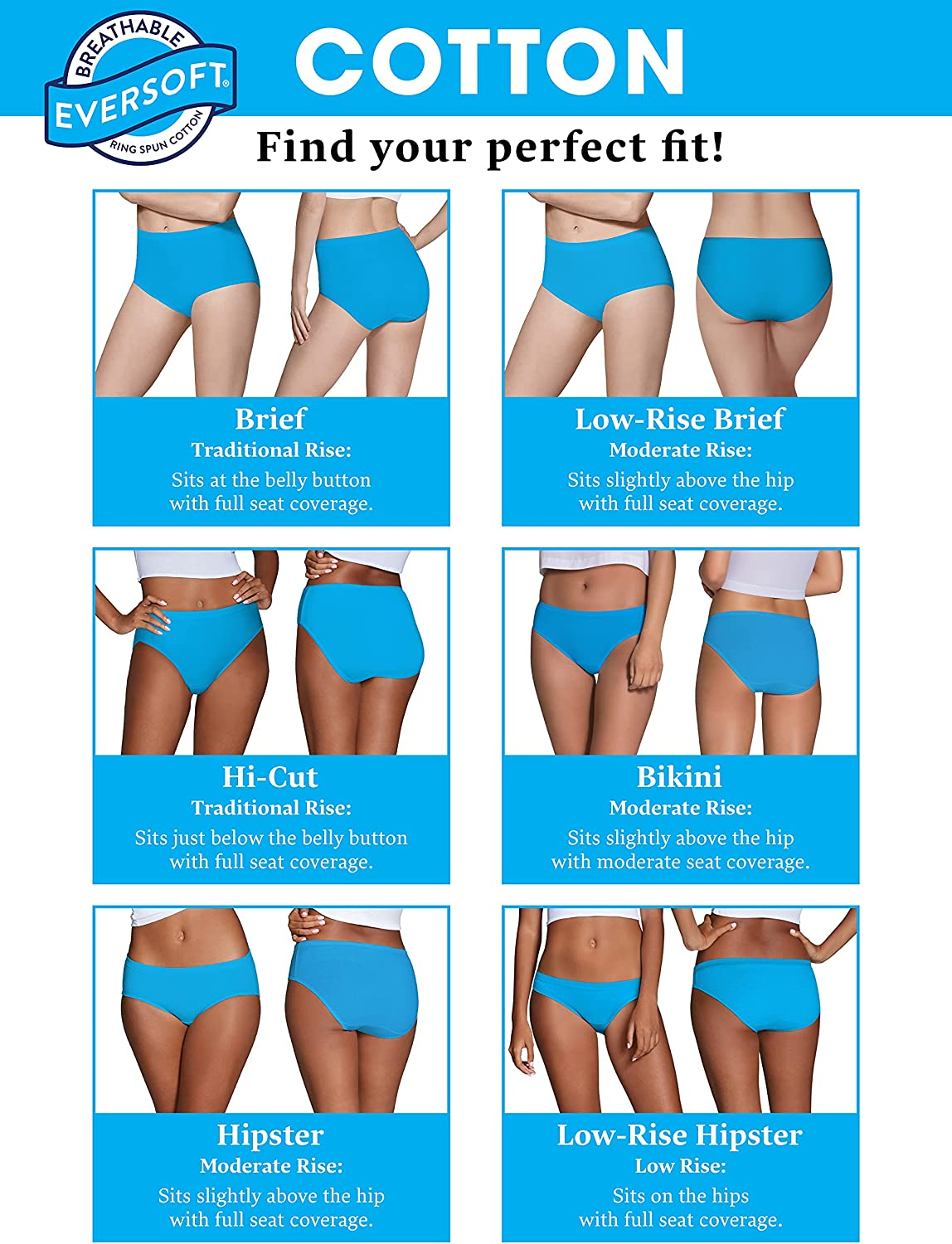Fruit of the Loom Women's Tag Free Cotton Brief Panties (Regular & Plus Size) at  Women's Clothing store