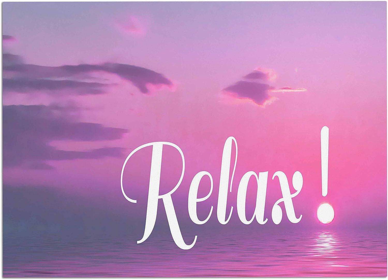 KESS InHouse AC1088ADM02 Alison Coxon Relax Pink Typography Dog Place Mat, 24 x15