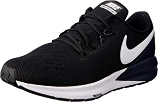 Nike Australia Men's Air Zoom Structure 22 Running Shoes, Black/White-Gridiron