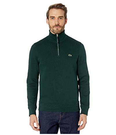 Lacoste Interlock Solid 1/4 Zip Sweater Classic (Sinople) Men