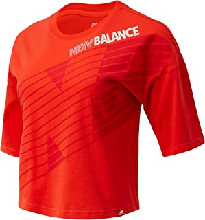 New Balance Women Essentials Nb Speed Graphic Tee Top Lifestyle Neo Flame
