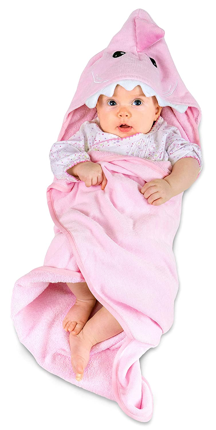 2021 new Hudz Kidz Hooded Baby Shark Towel for 100% Challenge the lowest price of Japan Cotton Perfect Soft