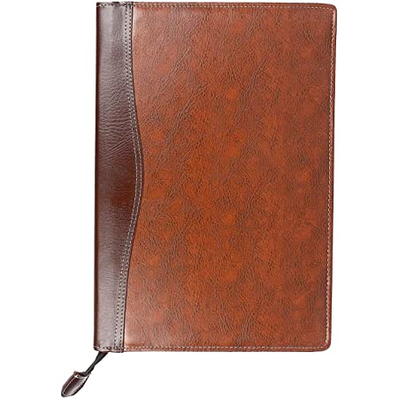 AmazingHind Leatherette Material Professional File Folders for Certificates, Documents Holder with 20 Leafs (Size-B4, Color: Mix Brown)