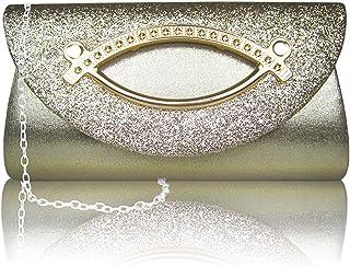 Amazon.es: Purpurina dorada - Carteras de mano y clutches ...