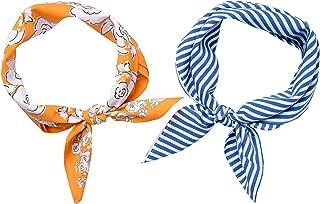"""Mara Maxwell Women's Bandana Neckerchief Neck Scarves for Head, Hair, Neck """"Macy"""" 2-pack …"""