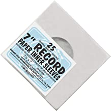 (25) Archival Quality Acid-Free Heavyweight Paper Inner Sleeves for 7