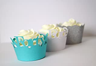 Forty Cupcake Wrappers Kits (Patina Green, White & Silver)
