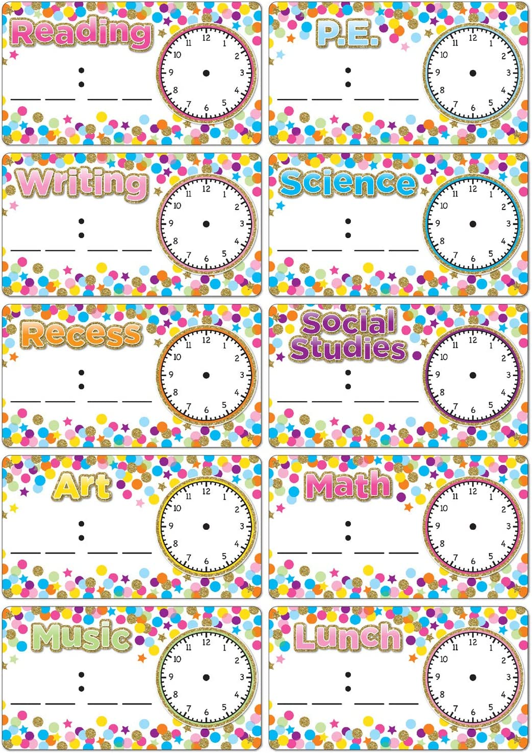 SALENEW very 5 ☆ popular popular Ashley Productions Die-Cut Magnets Schedule Confetti Cards