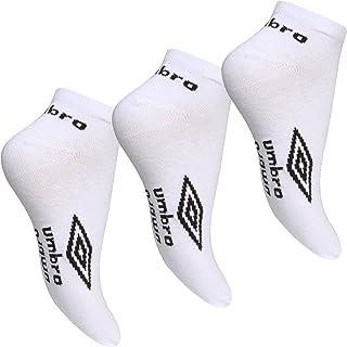 Men's White Umbro Sport Trainer Ankle Liners (3 Pair Multi Pack)
