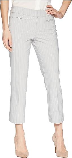 Vera Cropped Trousers in Soft Stripe in High-Rise