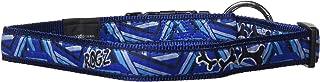 ROGZ HB02-CD Fancy Dress halsband/Armed Response, XL, blauw