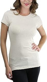 Women's Slim Fit Crew Neck Short Sleeve Longline Tee