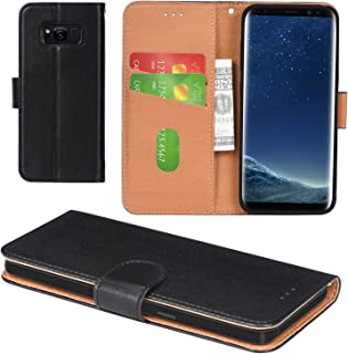 Galaxy S8 Plus Case, Aicoco Flip Cover Leather, Phone Wallet Case for Samsung Galaxy S8 Plus - Black