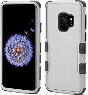 MyBat Cell Phone Case for Samsung Galaxy S9 - Natural Gray/Black Solid