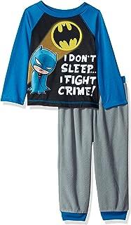 DC Comics Boys' Toddler Don't Sleep.i Fight Crime Jogger Pajama Set