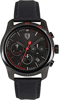 Ferrari Men's Black Dial Nylon Band Watch - 830446