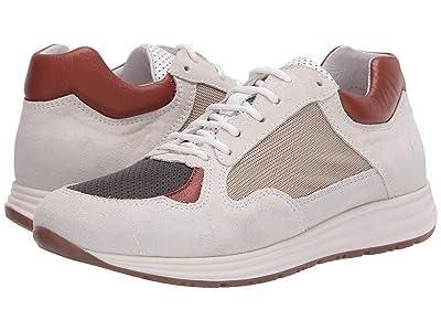 eleventy Low-Top Mix Media Runner Sneaker (White/Camel/Grey) Men