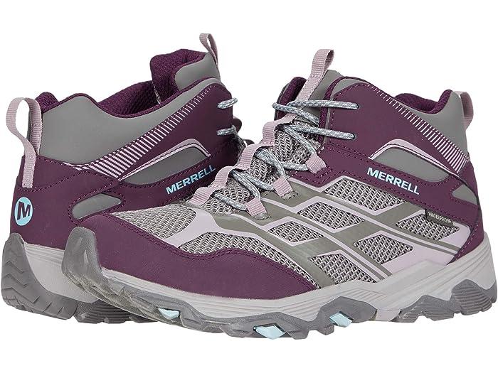 Charcoal//Nirvana 2 Big Kid US Merrell unisex baby Moab Fst Mid Waterproof Hiking Boot