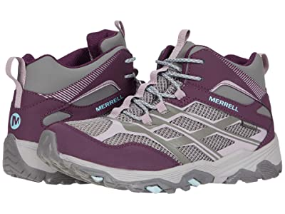 Merrell Kids Moab FST Mid Waterproof (Little Kid/Big Kid) (Charcoal/Nirvana) Girl