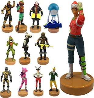 Fortnite Authentic Toys with Stamp, Set of 12 – Nog Ops, Battle Bus & Other Popular Fornite Battle Royale Characters – A Series Collection 1 of 3 for Boys & Girls