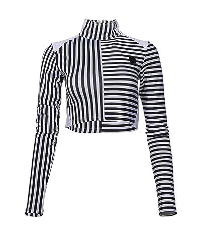 Fila Totti Cropped Top (White/Black Stripe) Women