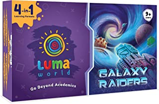 Luma World Galaxy Raiders 4-in-1 Educational Board Game STEM Activity Kit with 300+ Hours of Conceptual Activities for Age...