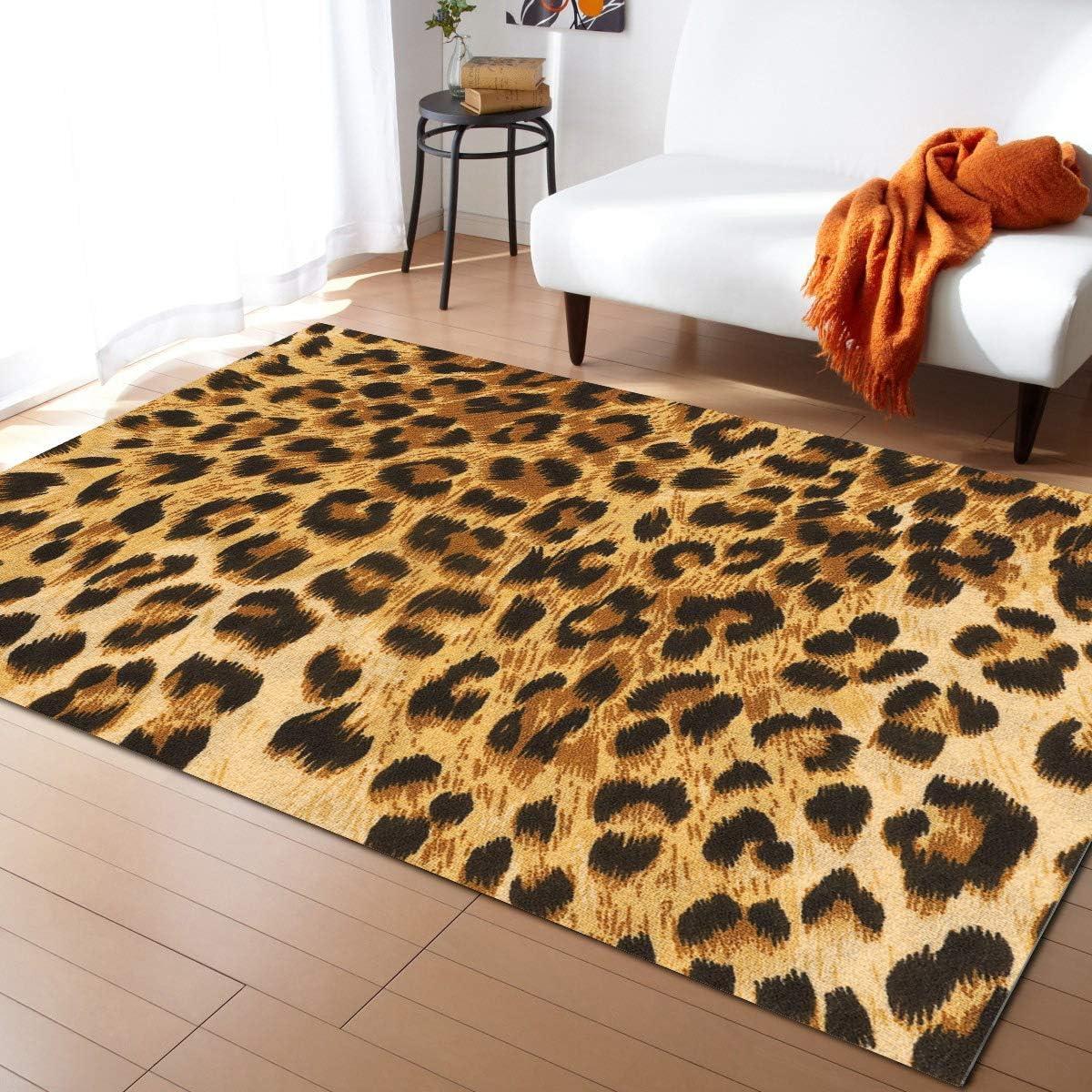 Olivefox 5x7 Feet Area Rug Floor Max 74% OFF Jacksonville Mall Carpet Indoor Floo Mat Leopard