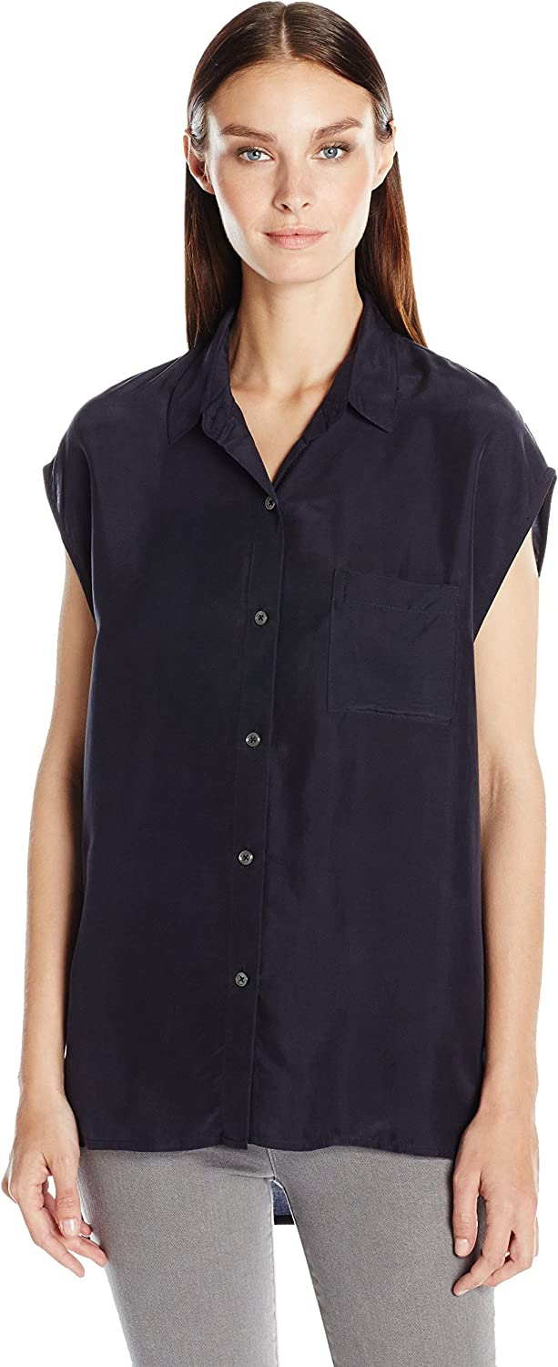 BALDWIN Denim & Collection Womens Amber Sleeveless Tunic ButtonDown Shirt