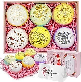 6PCS Bath Bombs, Bath Bomb Kit, Bubble Bath Spa Bath, Bath Bombs Gift Set, Rich in Natural Vegan Essential ...