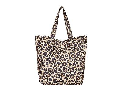 Loeffler Randall Roxana Large Nylon Tote (Leopard) Handbags