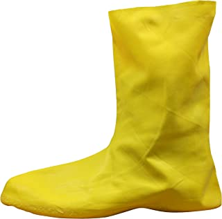 Cordova Safety Products LBC10L Yellow Natural Rubber Over-Shoe Style Hazmat Boots, large
