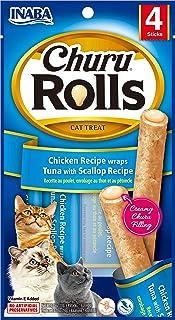 INABA Churu Rolls Chicken Recipe Wraps Tuna with Scallop, 40 Grams