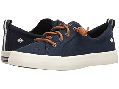 Sperry Crest Vibe Washed Linen (Navy) Women