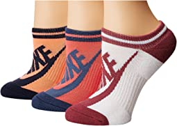 Sportswear Striped No Show 3-Pair Socks