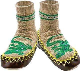 Konfetti Leapin' Lizards Gecko Kids Swedish Moccasins House Slippers Shoes