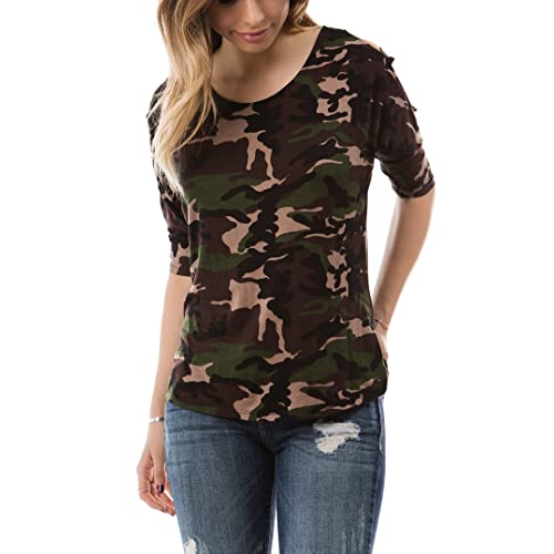 69d3b34318aaf9 Women's Regular and Junior Plus Size Strappy Top with Cut Out On Sleeve (S-
