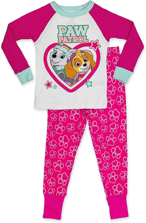 Paw Patrol Girl's Pajama Set,Long Sleeve and Long Pants 2 Piece PJ Set,100% Cotton,Toddler Size 2T to 5T