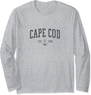 Cape Cod Massachusetts 1788 Nautical Look - Men Womens Long Sleeve T-Shirt