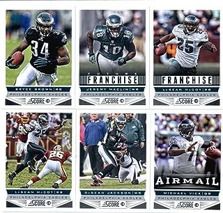 2013 Score Football Cards Philadelphia Eaglesá Team Set - (2) Michael Vick DeSean Jackson (2) Jeremy Maclin (2) LeSean McCoy Bryce Brown Brent Celek Nick Foles Jeremy Maclin