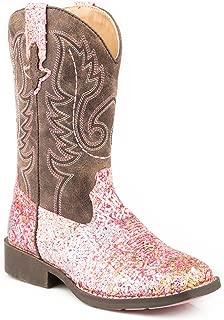 Girls' Glitter Aztec Western Boot Square Toe