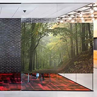 Details about  /3D Forest House ZHUA562 Window Film Print Sticker Cling Stained Glass UV