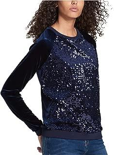 Tommy Hilfiger Women's Sequin Velvet Sweatshirt