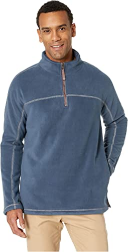 Bonded Fleece 1/4 Zip Pullover with Side Pockets and Sherpa Lining