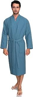 Men's Robe, Kimono Waffle Spa Bathrobe